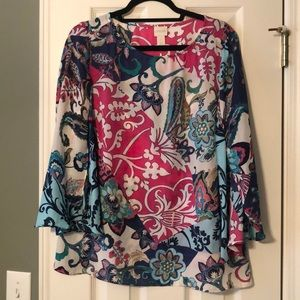 Chico's printed top size one